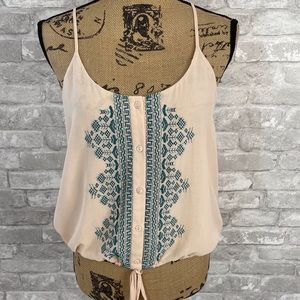 Rory Becca Embroidered Tank Top